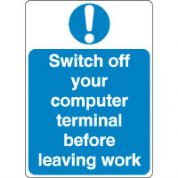 Mandatory Safety Sign - Switch Off Computer 147